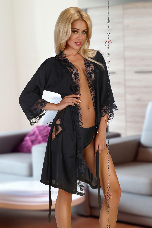 19c579086ba23a Szlafrok Model Ambrosia Black - BeautyNight Hurtownia odzieży on-line, moda  damska, bielizna i obuwie dla kobiet - Matterhorn.pl