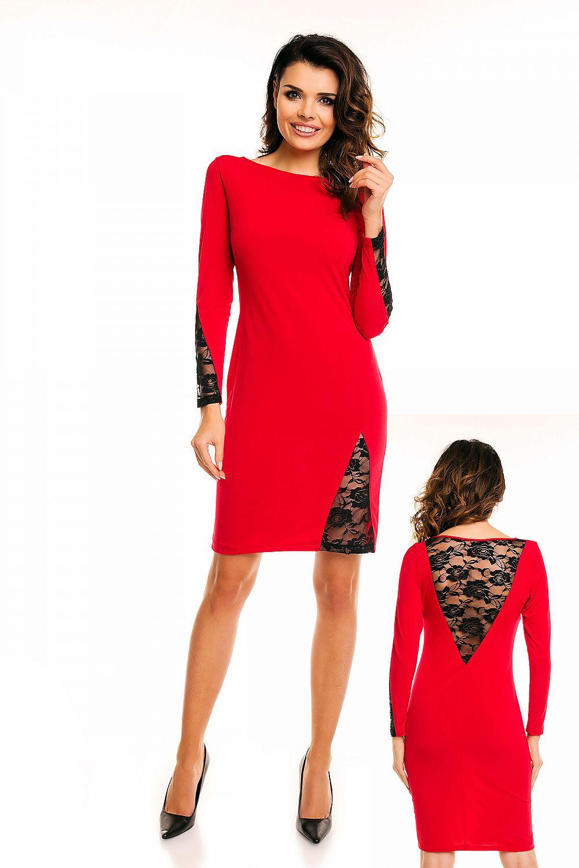 b926186fa9 Sukienka A128 Red - awama Hurtownia odzieży on-line