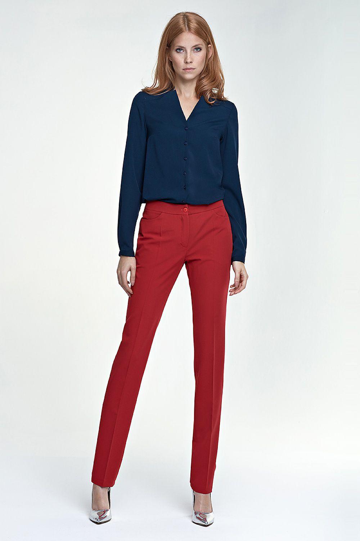 ab1524467da63e Eleganckie spodnie SD25 czerwony - Nife Hurtownia odzieży on-line, moda  damska, bielizna i obuwie dla kobiet - Matterhorn.pl