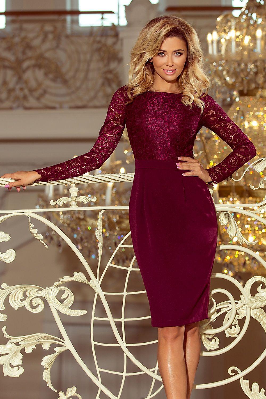 d7358774966c07 Sukienka Model Emma 216-3 Bordo - Numoco Hurtownia odzieży on-line, moda  damska, bielizna i obuwie dla kobiet - Matterhorn.pl