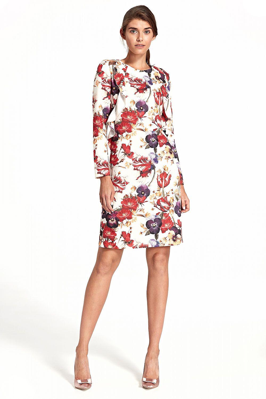 1a82411436 Sukienka z pionową falbaną S110 Flowers - Nife Hurtownia odzieży on ...