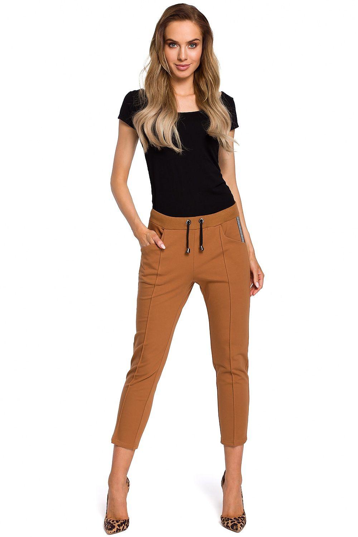 54eaad7685 Spodnie Damskie Model MOE411 Carmel - Moe Hurtownia odzieży on-line ...