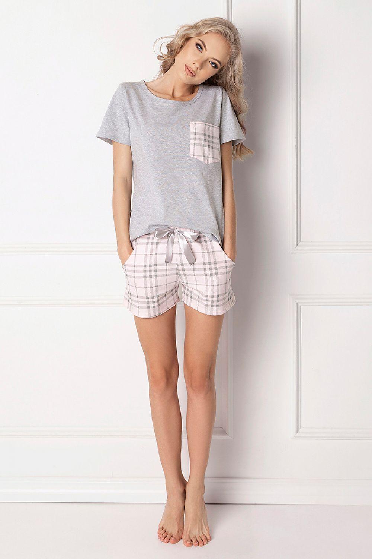 ad4600de42b27f Piżama Damska Model Londie Short Grey - Aruelle Hurtownia odzieży on-line,  moda damska, bielizna i obuwie dla kobiet - Matterhorn.pl