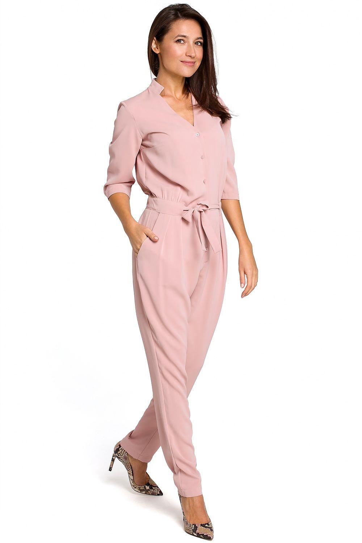 2486662d351027 Kombinezon Damski Model S146 Powder Pink - Style Hurtownia odzieży on-line,  moda damska, bielizna i obuwie dla kobiet - Matterhorn.pl