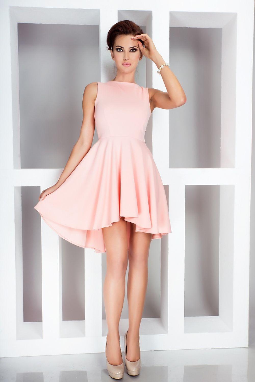 2ea33377b5 Sukienka Model 33-1 Peach - Numoco Hurtownia odzieży on-line