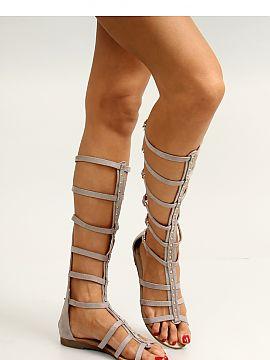 Modne sandały rzymianki gladiatorki paski